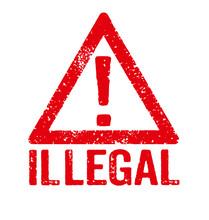 Roter Stempel Auf Weißem Hintergrund - Illegal