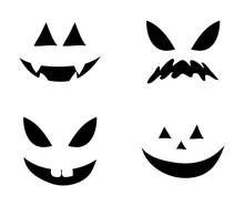 Jack O Lantern Smile Silhouett...