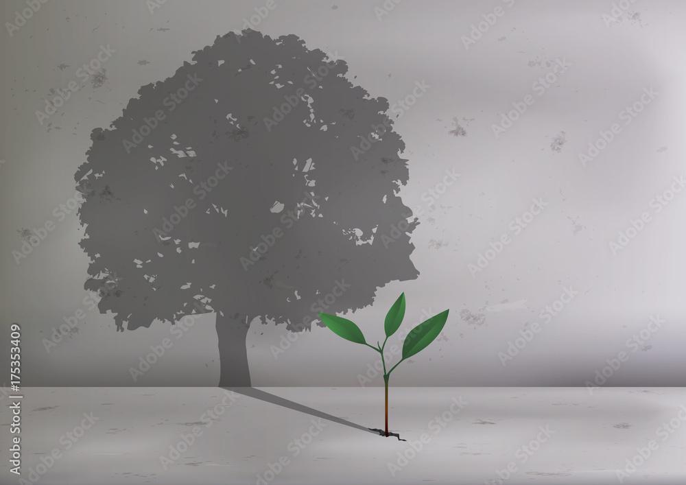 Fototapeta arbre - pousse - concept - écologie - plante - écologique - croissance