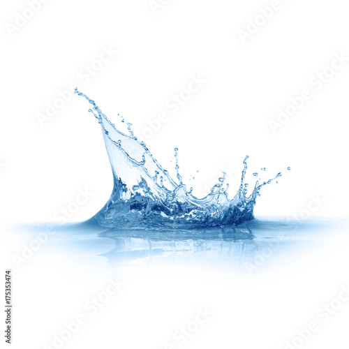 Foto op Plexiglas Water blue water splashes isolated