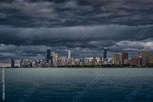 Obraz na dibondzie (fotoboard) Chmury nad Chicago