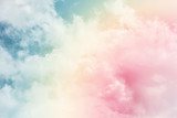 sun and cloud background with a pastel colored- 175356240