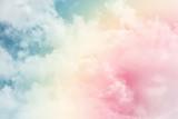 słońce i chmura tła w pastelowych kolorach - 175356240