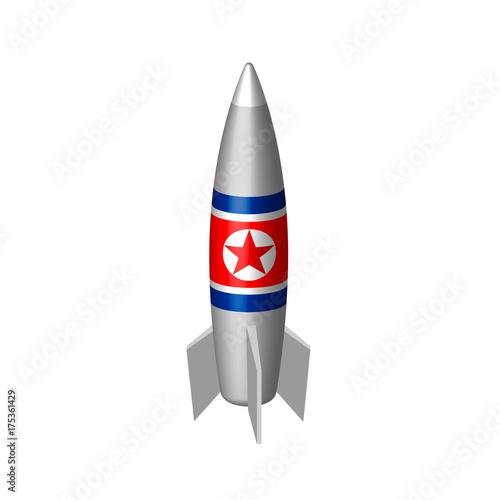 Plakat rakieta wektora Korei Północnej