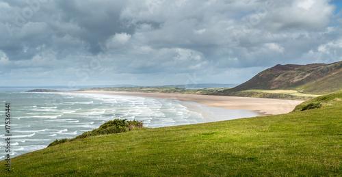 Fotografie, Obraz  Rhossili Bay view, South Wales, UK