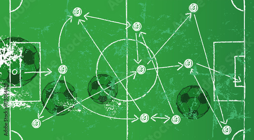 soccer-illustration-w-strategy-drawing-soccer-balls-grungy-style-vector