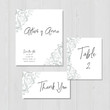 Wedding invitation template, marriage, abstract, hand drawn illustration