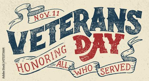 Veterans day, Honoring all who served Fototapete