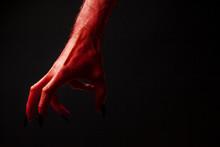 Red Devil Creepy Halloween Han...