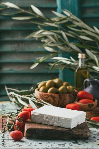 Traditional set of Greek mezze