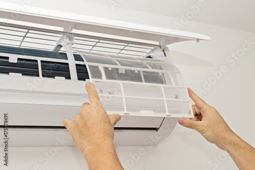 Changing the Filter in the Air Conditioning The Concept of Safe and Healthy Housing