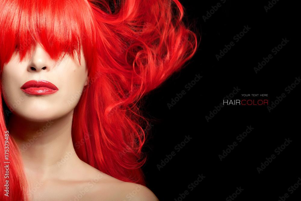 Fototapeta Hair color beauty concept