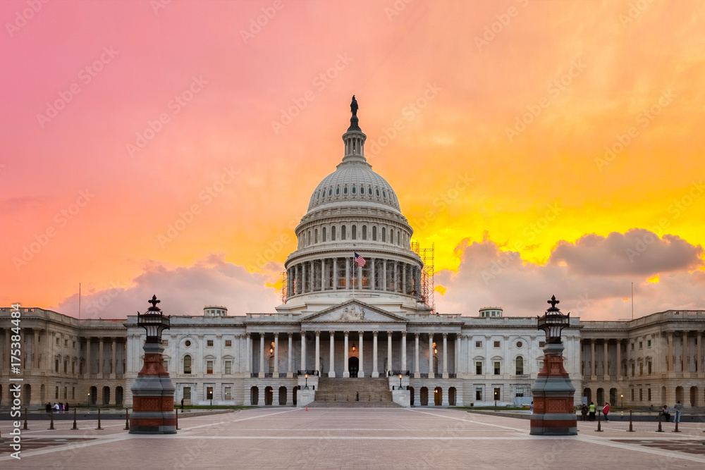 Fototapety, obrazy: United States Capitol building in Washington DC
