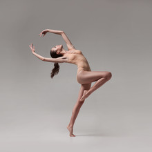 Young Beautiful Ballet Dancer ...