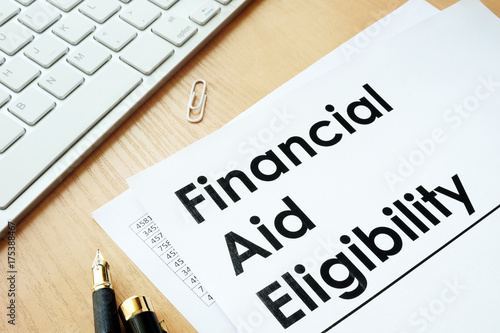 Photo Financial Aid Eligibility and other financial documents.