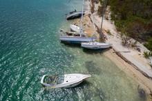 Sunken Boats After Hurricane I...