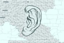 Ear Graffiti Tattoo Silhouette...