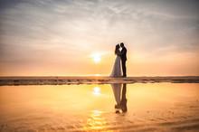 Bride And Groom, Newlyweds, Ho...