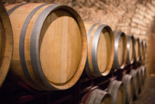 Wine Barrels In The A Wine Cel...