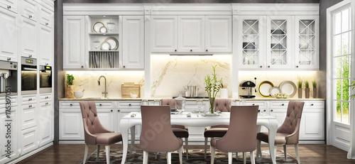 Fototapeta White kitchen obraz