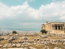 Temple At The Acropolis In Ath...