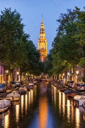 Canvas Prints Amsterdam Clock Tower Amsterdam Netherland