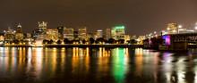 Portland, OR Skyline At Night