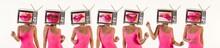 Tv Head Woman