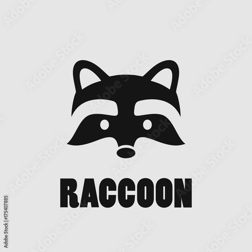 Raccoon face logo - Buy this stock vector and explore