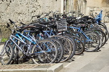 Students Bicycles At Oxford Un...