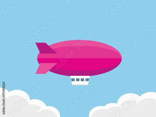 Photo Airship vector illustration
