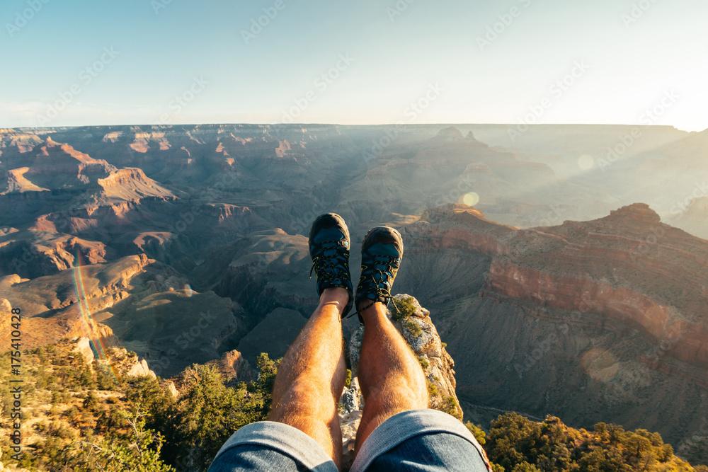 legs selfie at grand canyon national park, arizona