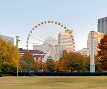 Ferris Wheel In Downtown Atlanta