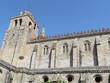 Portugal - Evora - Façade de la Cathédrale Notre-Dame-de-l'Assomption avec son clocher