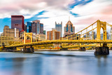 Fototapeta Most - Rachel Carson Bridge (aka Ninth Street Bridge) spans Allegheny river in Pittsburgh, Pennsylvania