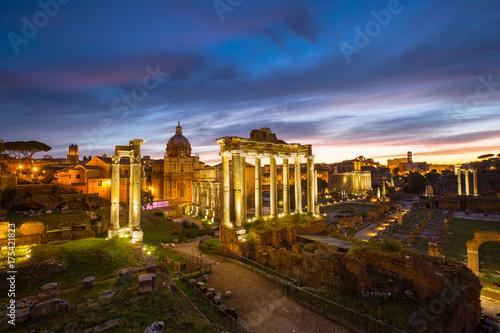 Fototapeta Roman forum landmark of Rome