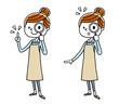 若い女性:虫眼鏡、調べる