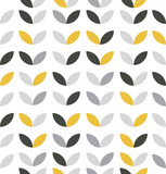 Żółty i szary streszczenie kwiatki - 175433811