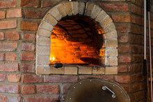 Fire In Stone Oven By Ukrainia...