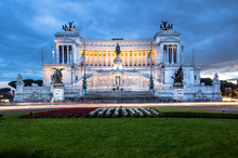 Altar Of The Fatherland At Night, Rome, Italy