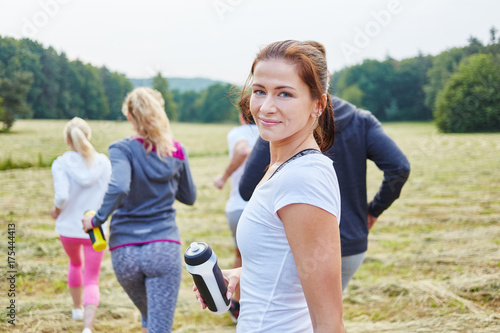 Keuken foto achterwand Jogging Junge Frau als Jogger