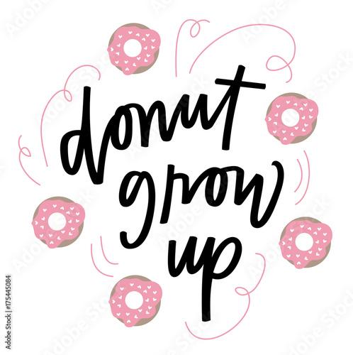 Donut grow up Canvas Print