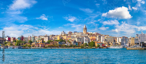 Galata Tower in Istanbul, Turkey Canvas Print