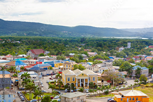 Falmouth port in Jamaica island, the Caribbeans Canvas Print