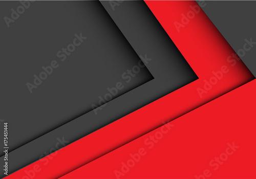 Abstract red gray arrow design modern futuristic background vector illustration. © patthana