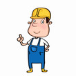 cute cartoon illusration repairman