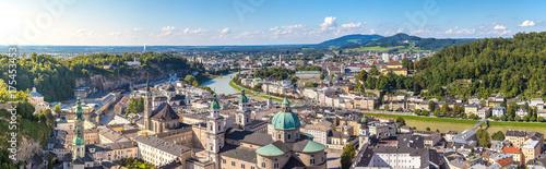 Fototapeta premium Panoramiczny widok na Salzburg