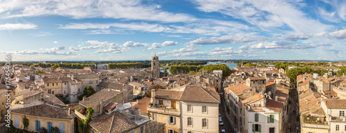 Canvas Print Aerial view of Arles, France
