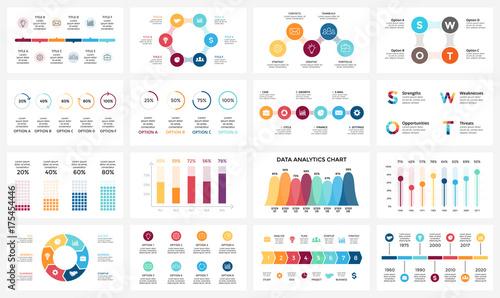 Canvas-taulu Vector arrows infographic, diagram chart, graph presentation