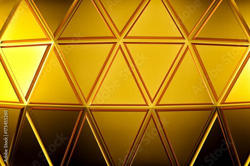 Zdjęcie XXL Streszczenie złote tło geometryczne. Złota tekstura z cienia. 3D render